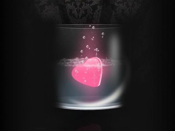 foto di un disegno di cuore