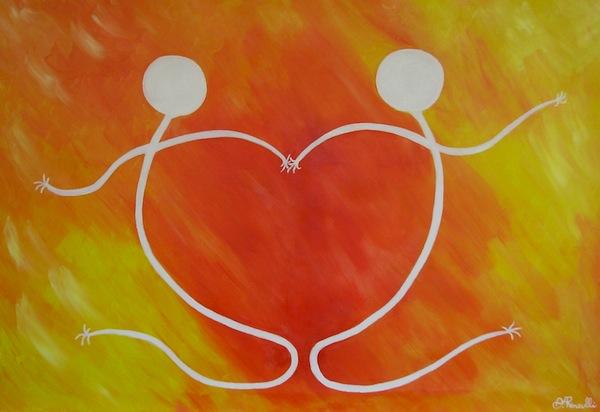 disegno abbraccio cuore